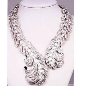 Huge Bling Crystal Chunky Statement Necklace 🔥